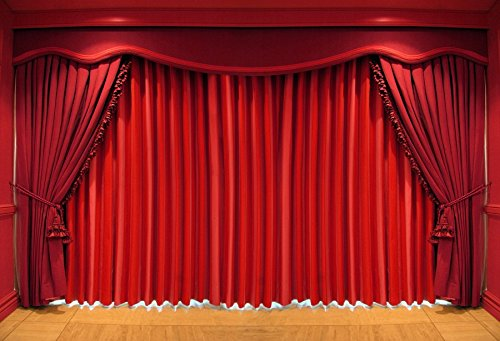 Baocicco Red Drapes Curtain Stage Backdrop 7x5ft Photography Background Circus Decor Classical Ceremony Theatre Drama Theatrical Pattern Announcement Velvet Opera Act Elegance Style