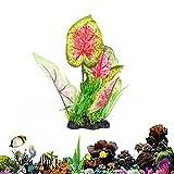 Gertok Plantas Acuario Naturales Plantas Acuario Plantas de plástico para peceras Acuario Agua Plantas Peces de Acuario Decoración 12.61'' Red