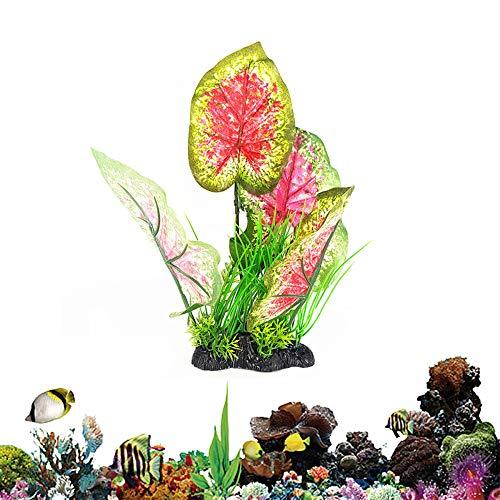 Plantas Artificiales Acuario Plantas Acuario Naturales Plantas Acuario Fish Tank Plant Aquarium Decoration Plants Artificial Fish Tank Plants Aquarium Decor Water Plant Ornament 12.61'' red