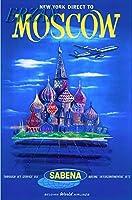 ERZANノスタルジックなデザインが人気のブリキ看板モスクワロシア聖ワシリイアメリカヴィンテージ旅行広告壁の装飾牌20x30cm