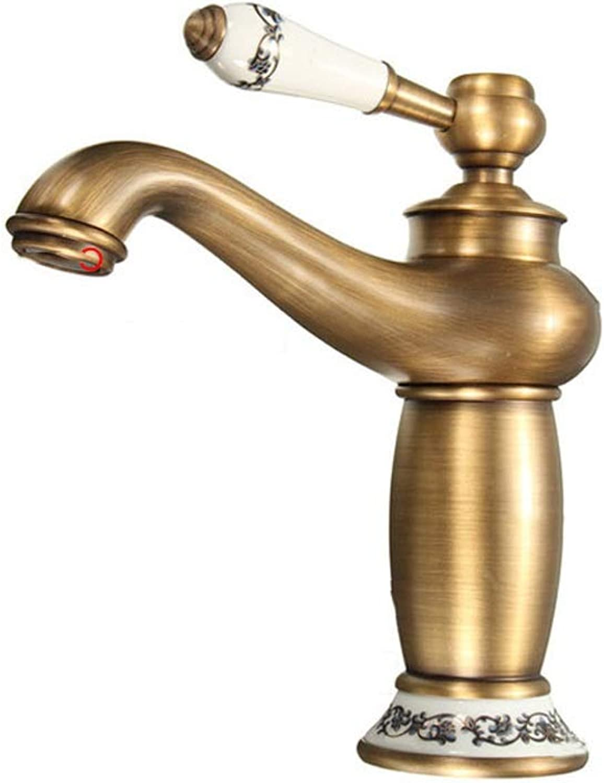 Antique brass Concise Bathroom Faucet Antique bronze finish Brass Basin Sink Faucet Single Handle water taps Bathroom Sink Faucet