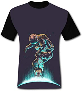 CAPINER Men's Casual Cool 3D Astronauts in Space T-Shirts Summer Fashion Cartoon Animal Anime Design Shirts