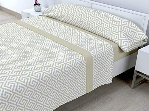 Cabetex Home - Juego de sábanas termicas de pirineo - 3 Piezas - 120 Gr/m2 - Mod. Talas...