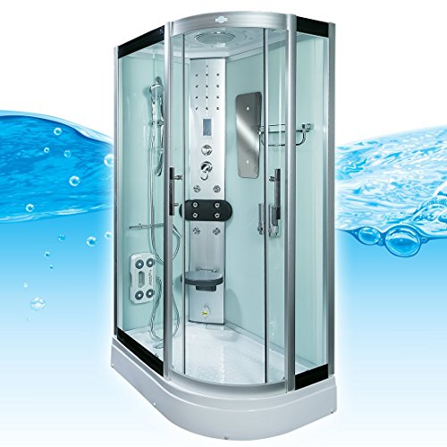AcquaVapore DTP8060-7002R Dusche Dampfdusche Duschtempel Duschkabine 80x120, EasyClean Versiegelung:OHNE 2K Scheiben Versiegelung