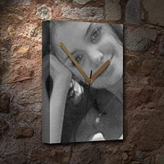 Katie Holmes - Canvas Clock (A5 - Signed by The Artist) #js003