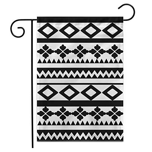 12,5 'x 18' Gartenflagge Aboriginal Tattoo Maori Polynesian Armband Arm Black Chest Curl Outdoor Doppelseitige dekorative Haus Yard Flags