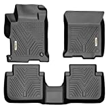 YITAMOTOR Floor Mats Compatible with Honda Accord, Custom fit Floor Liners for 2013-2017 Honda Accord Sedans, 1st & 2nd Row All Weather Protection, Black