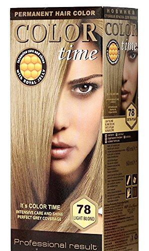 Color Time Haarfarbe Permanent, mit Gelée royale, 78 Hellblond