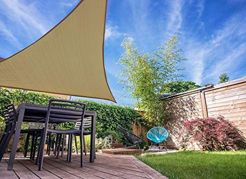 Sun Shade Sail11 10 x11 10 X 11 10 Color Riverstone Triangle Outdoor Awning Shade Cover HDPE product image