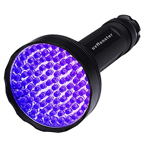 UV Blacklight Flashlight, Super Bright 100 LED Pet Dog Cat Urine Detector light Flashlight for Pet Urine Stains, UV Black light Flashlight for Bed Bugs, Scorpions Hunting