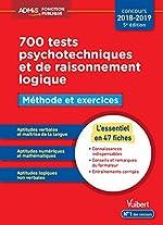 700 tests psychotechniques et de raisonnement logique - Méthode et exercices - L'essentiel en fiches - Concours 2018-2019 d'Emmanuel Kerdraon