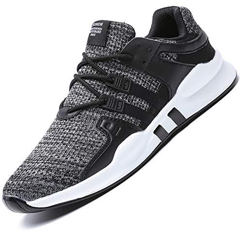 SUADEX Laufschuhe Herren Sportschuhe Atmungsaktiv Sneaker Leichtgewicht Turnschuhe Turnschuhe Walkingschuhe Traillauf Outdoor Fitnessschuhe Grau Gr.43