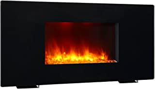 PuraFlame 36 Inches RICHFLAME Celia Series, Portable or Wall Mounted, Flat Panel Electric Fireplace with Remote,1350W, Black