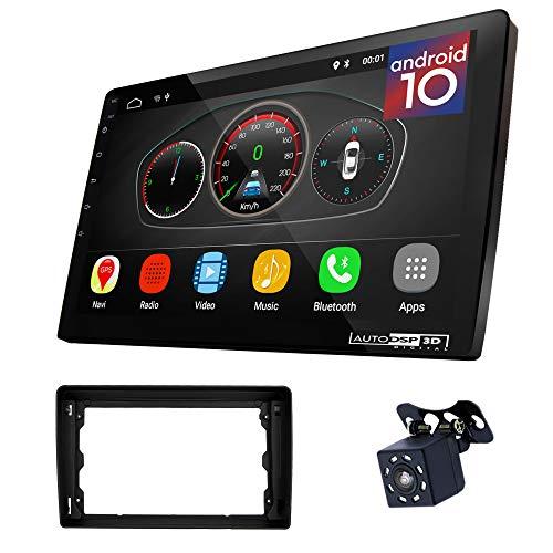 UGAR EX10 9' Android 10.0 DSP Car Radio mit 11-046S Panel Dash Instalación Fascia Kit para Ford Focus II, C-MAX 2005-2011; S-MAX, Fusion, Transit 2006-2011; Fiesta, Galaxy 2006-2008; Kuga 2008-2012