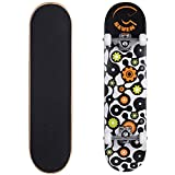 Cal 7 Complete Skateboard, Popsicle Double Kicktail Maple Deck, Skate Styles in Graphic Designs (8' Gear)