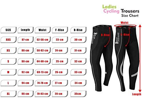 Brisk Bike Thermo-Radhosen Fahrradhosen Radsport-Leggings Fahrradhosen Radlerhosen gepolsterte Radhosen professionelle Radhosen Fahrradkleidung Mountainbike (Black/Green, S) - 5