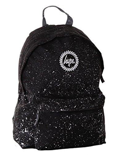HYPE Rucksack Tasche Backpack 096 blau schwarz lila grün, Farbe:Schwarz