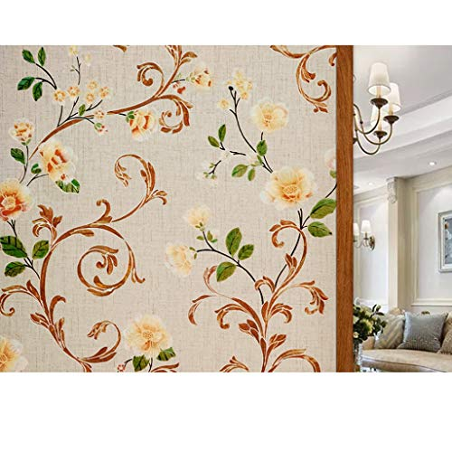 HLD Glas Mat Film Met Pattern Company Decoratief papier zelfklevend papier raamsticker Window deur en raam Film doucheruimte Startpagina Raamfoliën (Color : A, Size : 50x200cm)