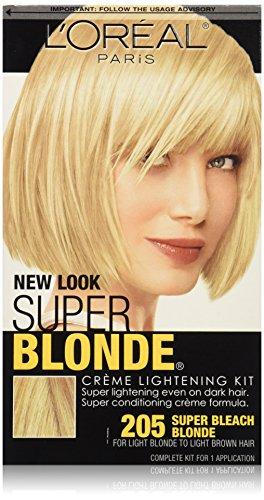 L'Oreal Paris Super Blonde Creme Lightening Kit, 205 Light Brown To Light Blonde