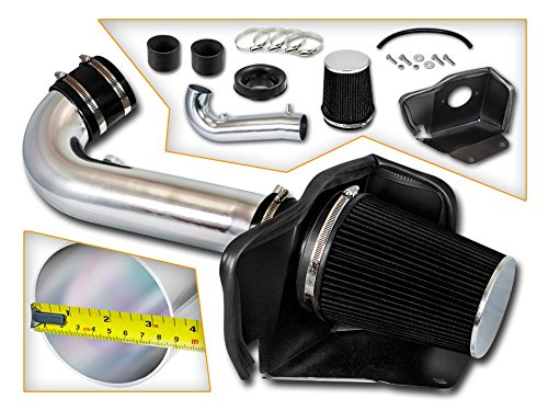 Cold Air Intake System with Heat Shield Kit + Filter Combo BLACK Compatible For 11-19 Dodge Durango 5.7L V8 / 2011-2019 Jeep Grand Cherokee 5.7L V8