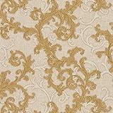 Papier peint baroque Tapisserie baroque Papier peint intissé Beige/crème Or 962313 | Papier peint pas cher