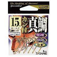 ささめ針 カン付真鯛 RM-03 12号 9本入 金