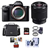 Sony a7R II Alpha Full Frame Mirrorless Camera with FE 28-70mm f/3.5-5.6 OSS Lens - Bundle with Camera Case, 128GB SDXC U3 Memory Card, 55mm Filter Kit, Memory Wallet, Cleaning Kit, Mac Softwate Pack