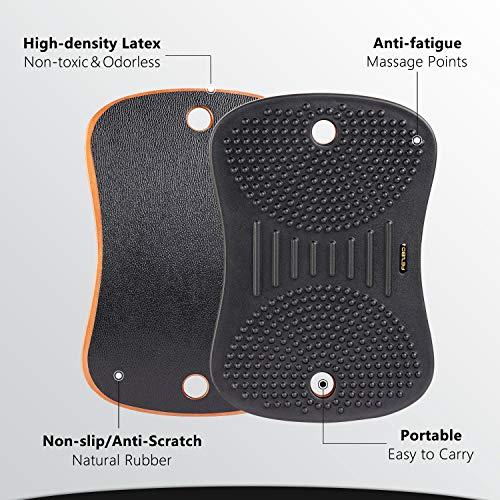 Product Image 2: FEZIBO Standing Desk Anti Fatigue Mat Wooden Wobble Balance Board Stability Rocker with Ergonomic Design Comfort Floor Mat (Medium, Obsidian Black)
