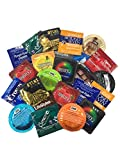 Ultimate Grab Bag with Silver Lunamax Pocket Case, Ultimate Sampler Pack of Latex Condoms-24 Count