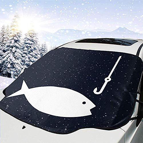 Dem Boswell Bent Angelrute Clipart Car Front Windschutzscheibenabdeckung Car Glass Snow Cover