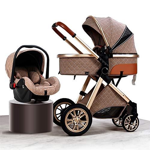 JIAX Cochecito De Bebé con Rotación De 360 Grados Cochecito De Bebé 2021 Cochecito De Bebé De Lujo con Asiento De Automóvil Mochila Mosquitera Almohadilla De Enfriamiento Cubierta De Lluvia