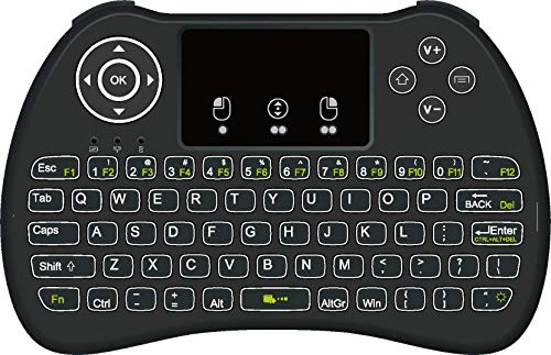 2.4GHz Mini Mobile Wireless Keyboard with Touchpad Remote Control with Rechargable Li-ion Battery for Samsung/ QE75Q90RATXXU 75/""