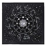 Wru - Mantel De Cartas De Tarot De 12 Constelaciones, Juego De Mesa, Tela De Altar De Adivinación De Terciopelo