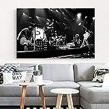 manyaxiaopu Pearl Jam Photo Art Carteles E Impresiones Alternative Rock Music Water Art Poster Canvas Painting Home Decor Pintura Sin Marco A3 50X70Cm