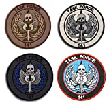 Call of Duty Task Force 141 Logo Embroidery Patch Military Tactical Morale Patch Badges Emblem Applique Hook Patches for Clothes Backpack Accessories (4pcs)