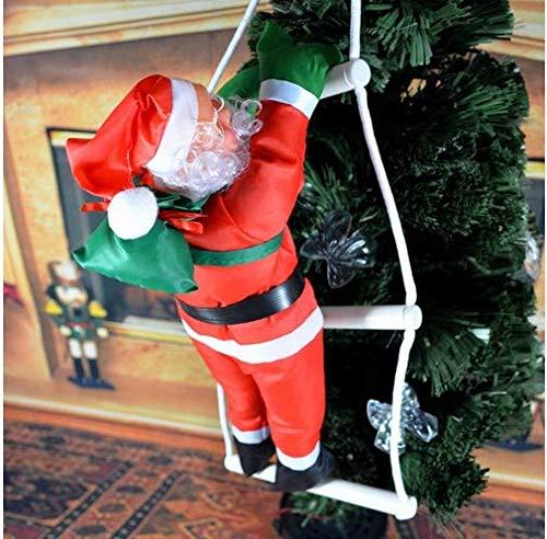 Hemore 25cm Navidad Escalera Santa Claus muñeca árbol decoración Color de Imagen 1 Conjunto