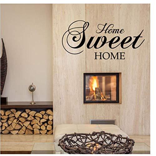 Zkpyy muurstickers voor het lieve huis bieden verwijderbare vinyl muursticker, decoratie voor thuis, woonkamer, slaapkamer, kunst, kaarten, 57 x 28 cm