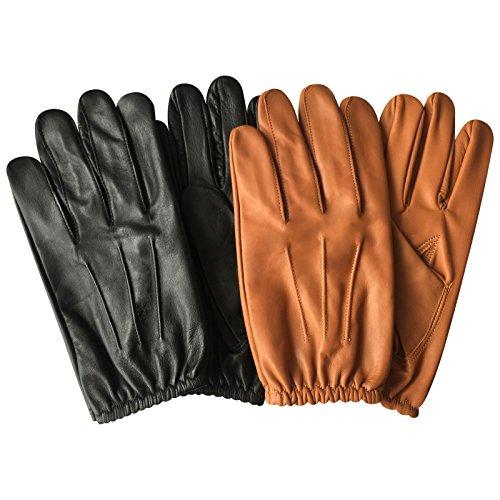 Prime Classic Herren-Polizei-Handschuhe enge Passform, taktische Kleidung, Handschuh Chauffeur, echtes Rindnappaleder 083, 084, 083-Tan, M