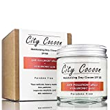 Crema solar SPF 50 con filtro UVA y UVB - Anti-contaminación - Acido Hialurónico - Día hidratante - Para la cara y el cuello de City Cocoon - 50ml