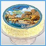 Dinosaurier Zucker - Tortenaufleger M10