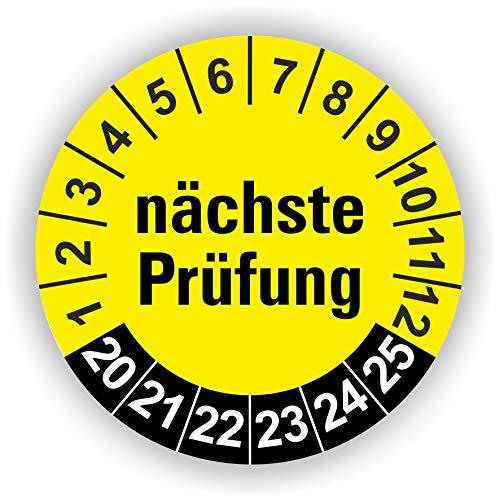 5-1.000 Stück Prüfplaketten Prüfetiketten Wartungsetiketten Prüfung Ø 30mm (10 Stück)