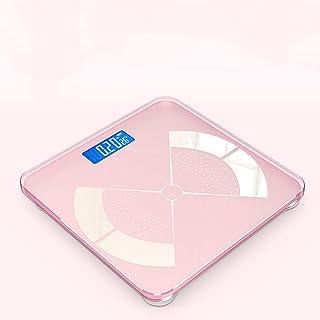 HTDZDX Báscula de baño Digital de Alta precisión, USB Recargable, tecnología de Paso, báscula Digital de precisión con Pantalla LCD de retroiluminación (Color : Pink)