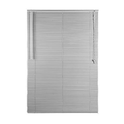 CONCEPT DECOR Tenda Veneziana in PVC Oscurante Dimensioni 90 x 162 Cm, Perfetta per Ufficio, Studio, Cucina, Bagno e Soggiorno (Grigio, 90 x 162 Cm)
