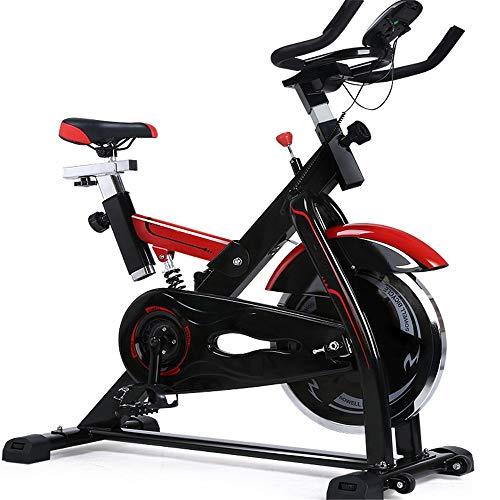 Tbaobei-Baby Indoor-Heimtrainer Mute Sport Bike Fitnessgeräte Heim Pedal Fitnesstraining Fahrrad Indoor Heimtrainer Tragender 200KG Übung Cycling Bike (Color : Black, Size : 118x108x48.5cm)