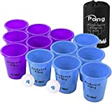 Rally and Roar Jumbo Tailgate Beer Pong Set - Includes 12 Durable 9' Tall Cups, 2 Balls, Carry Bag