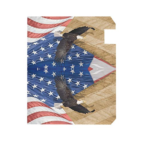 ZZKKO American Flag Eagle Magnetic Mailbox Cover Wrap Post Letter Box Cover for Outside Garden Home Decor Standard Size 20.8 x 18 Inch