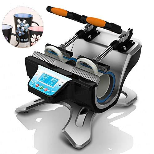 TTLIFE Mug Heat Press Machine, Double Station 360° Rotation Mug Plate, Automatic Digital Transfer Printing DIY Machine, Suitable for 11oz, 12oz, 15oz, 17oz Cups