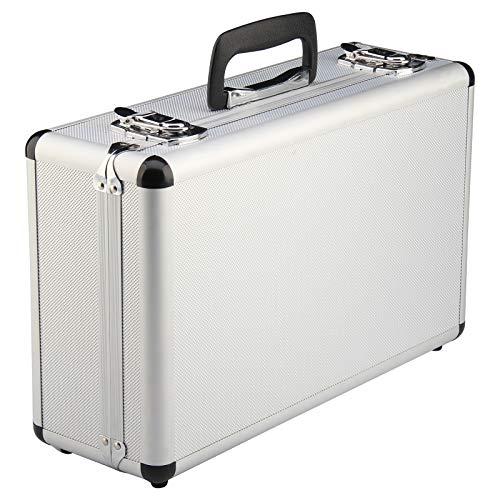 Shoze 400 x 240 x 125mm Large Hard Aluminium Flight Case Foam Camera Silver Photography Carry Storage Tool BOX