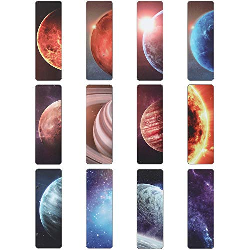 Magnetic Bookmarks Planets and Starry Sky Book Markers Set Magnet Page Markers for Reading School Classroom Library and Home (24 Pieces)
