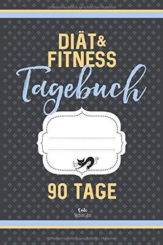 Diät & Fitness Tagebuch 90 Tage (grau): Abnehmtagebuch zum Ausfüllen